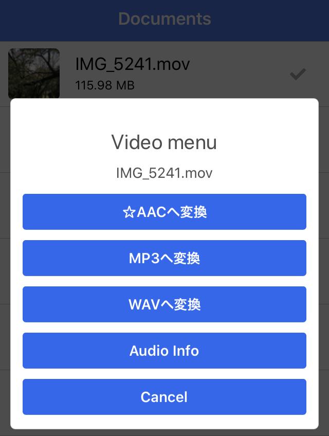 MP3形式を選択